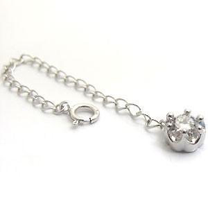 【送料無料】プラチナ・チェーン・アジャスター・6.0cm・アジャスターチェーン・ダイヤモンド
