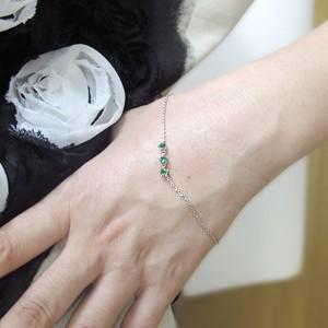 【送料無料】5月誕生石・エメラルド・ブレスレット・王冠・K10・トリロジー