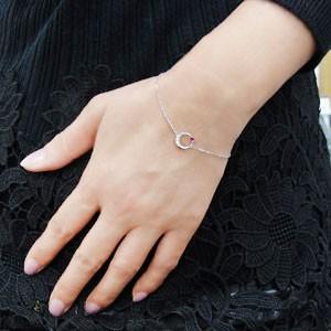 【送料無料】月 星 アンクレット ルビー アンクレット 18金 ブレス
