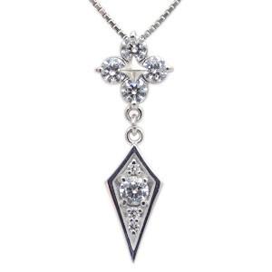 【送料無料】メンズ・ネックレス・4月誕生石・ダイヤモンド・10金・ペンダント