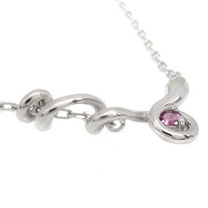 【送料無料】ピンクトルマリン ネックレス K18 一粒 ペンダント 蛇 ネックレス