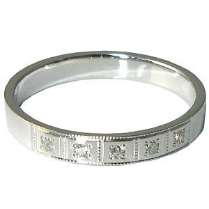 【送料無料】K18ゴールド・ペアリング・ダイヤモンド・結婚指輪・マリッジリング