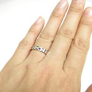 【送料無料】プラチナ・ルビー・リング・指輪・クロスリング