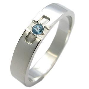 【送料無料】クロスリング・ブルートパーズ・リング・k10・結婚指輪