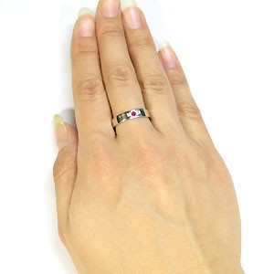 シルバーリング・クロスリング・ルビー・リング・結婚指輪