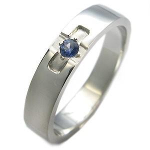 【送料無料】サファイア・リング・k18ゴールド・クロスリング・結婚指輪
