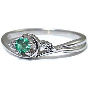 【送料無料】エメラルド・リング・18金・指輪・一粒・エメラルドリング
