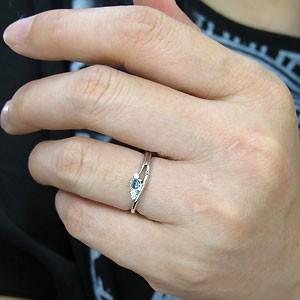 【送料無料】プラチナ・ブルートパーズ・リング・一粒・ブルートパーズリング・指輪