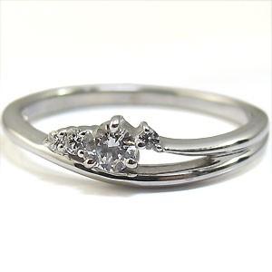 【送料無料】ダイヤモンド・リング・18金・指輪・一粒・ダイアモンドリング