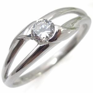 【送料無料】鑑定書付き・ダイヤモンド・リング・18金・一粒・指輪