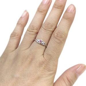 【送料無料】ピンクサファイア・リング・一粒・K10・指輪