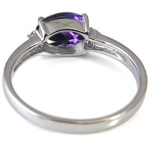 【送料無料】指輪・大粒・アメジスト・リング・18金・2月誕生石