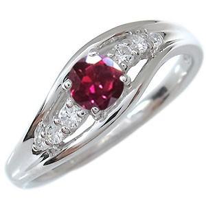 【送料無料】プラチナ・リング・指輪・ルビー・7月誕生石・一粒