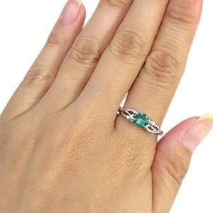 【送料無料】プラチナ・リング・エメラルド・指輪・大粒・リング