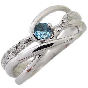 【送料無料】ブルートパーズ・リング・11月誕生石・一粒・10金・指輪