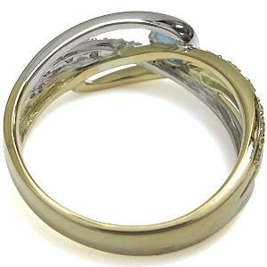 【送料無料】コンビ・リング・アクアマリンサンタマリア・リング・一粒・18金・指輪