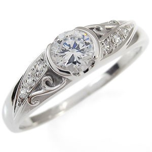 【送料無料】4月誕生石・ダイヤモンド・リング・10金・唐草・アラベスク・指輪
