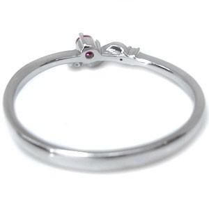 【送料無料】ルビー ピンキーリング ファランジリング 18金 指輪 天然石 リング