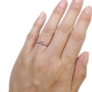 【送料無料】ピンクトルマリン リング シンプル 王冠 10金 リング 指輪