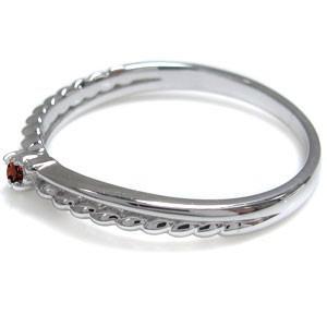 【送料無料】ガーネット 指輪 シンプルリング ピンキーリング 10金