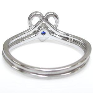 【送料無料】ファランジリング ハート リング K10 指輪 華奢 サファイア ピンキーリング