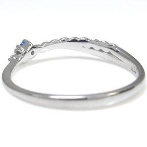 【送料無料】プラチナ ピンキー ファランジリング サファイア リング 指輪