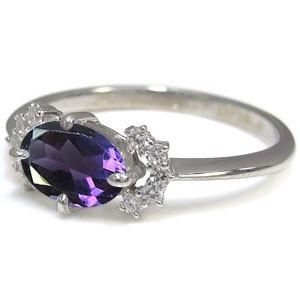 【送料無料】プラチナ 指輪 アメジスト 指輪 アメジストリング