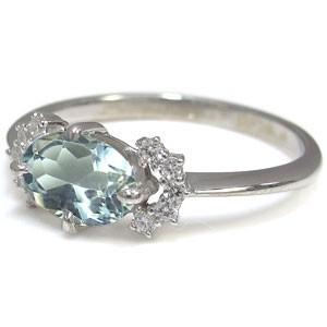 【送料無料】プラチナ 指輪 アクアマリン 指輪 アクアマリンリング