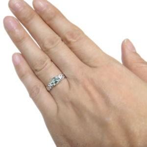 【送料無料】リング・アクアマリン・プラチナ・指輪