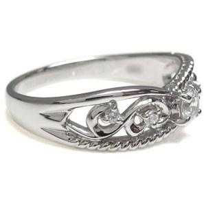【送料無料】ダイヤモンド・リング・18金・アラベスク・唐草デザイン・リング・指輪