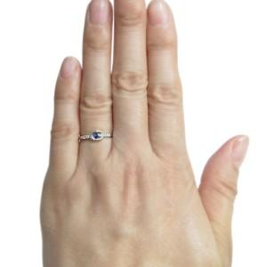 【送料無料】ホースシューリング レディース サファイア リング 馬蹄 10金 指輪
