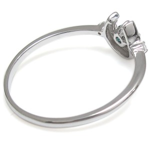 【送料無料】プラチナ ホースシュー リング アレキサンドライト 馬蹄 指輪