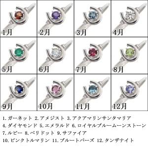 【送料無料】誕生石 リング 馬蹄リング ホースシュー 指輪 18金