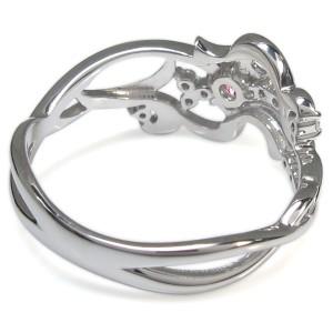 【送料無料】ピンクトルマリン 唐草 結婚記念日 リング メモリアルリング 指輪 10金