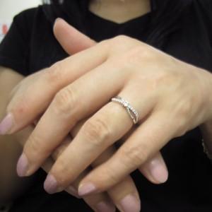 【送料無料】プラチナリング ピンキー ダイヤモンド 指輪 上品 リング