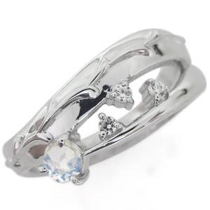 【送料無料】アラベスク 唐草 ムーンストーンリング 指輪 ピンキー ファランジリング K18