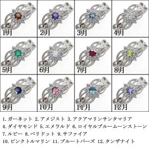 【送料無料】誕生石 取り巻きリング アンティークリング ミル打ち 指輪 クラシカル