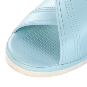 オフィスサンダル ナースサンダル 青 クロスサンダル S (21.5−22.0cm)