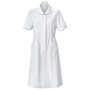 【送料無料】医療用ナースウェア Ciワンピース「サテンドール」ホワイト Mサイズ