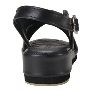 オフィスサンダル ナースサンダル 黒 クロスサンダル LL (24.5-25.0cm)