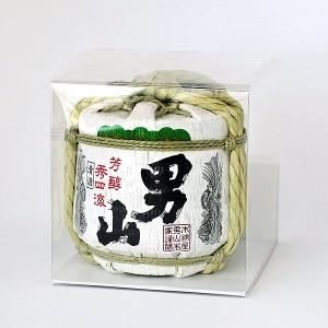 日本酒 男山ミニ菰樽 300ml【北海道お土産探検隊】