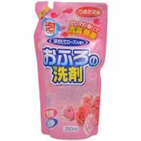 【おふろの洗剤 泡タイプ(咲きたてローズの香り) つめかえ用 350ml】