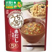 【アマノフーズ うちのおみそ汁 赤だしなめこ 5食 32.5g(6.5g×5食)】
