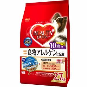 【ビューティープロ 食物アレルゲンに配慮 10歳以上 フィッシュ&ライス 2.7kg(450g×6袋)】