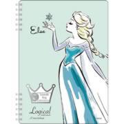 【スイング・ロジカルWリングノート A5・A罫 アナと雪の女王 エルサ グリーン NW-A509-G】