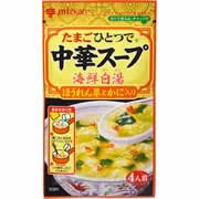 【ミツカン 中華スープ 海鮮白湯 ほうれん草とかに入り 27g】