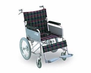 ハンドブレーキ付アルミ製介護車 B-40 (背折れタイプ、介助式車椅子) 幸和製作所 【介護用品】