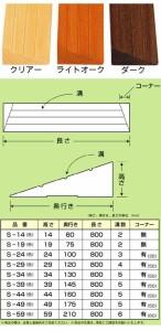 木製 滑りにくいスロープ 長さ80cm S-54 バリアフリー静岡 【介護用品】