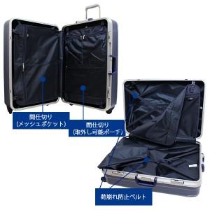 シフレ siffler GREEN WORKS グリーンワークス GRE1043-66 (93L) フレームタイプ スーツケース