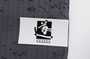 【呉服屋】【訳あり/女物 浴衣 反物】グレー×赤×白(花)道宣 ブランド 注染 本染め 小幅 両耳 生地 上品 女浴